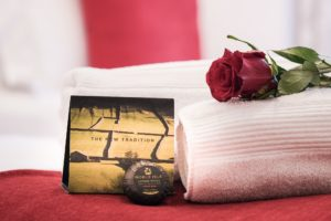 Noble Isle soap with rose and White Company towel